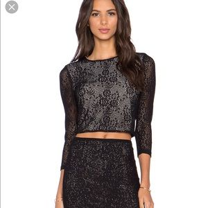 Alice Olivia Black Lace Corp top -S/P